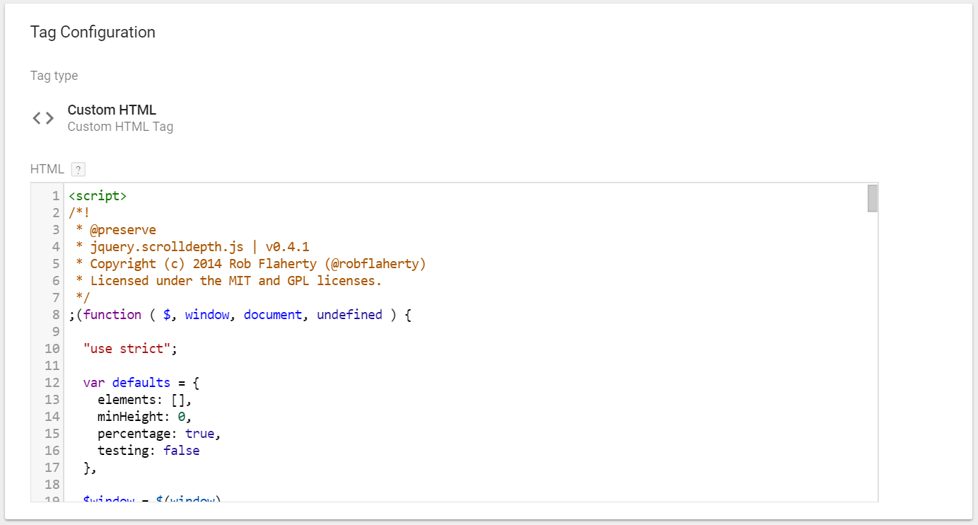 Scroll Depth Tracking – Google Tag Manager Implementation with jQuery